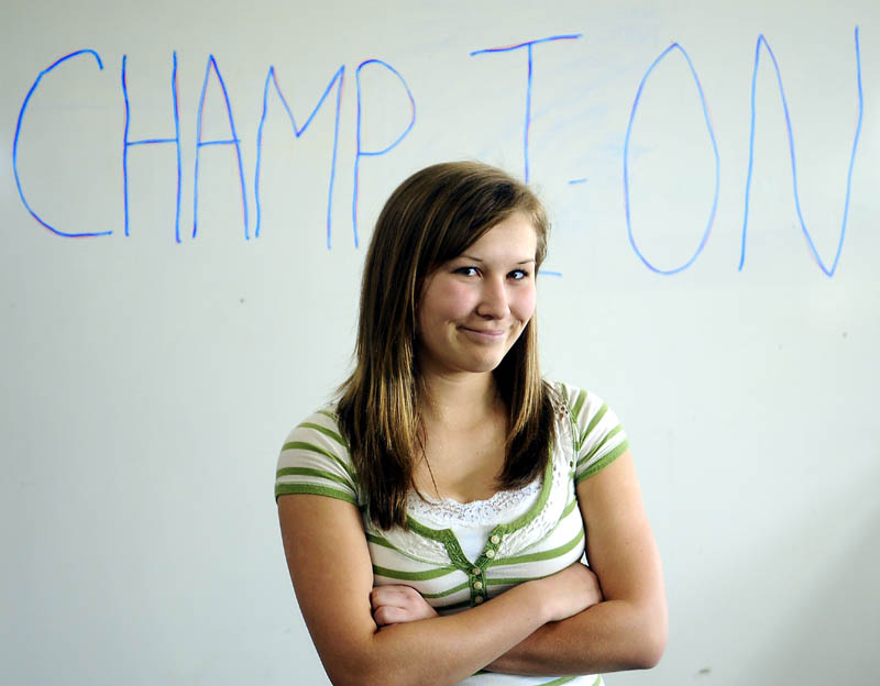 THE CHAMP: Jefferson Village School student Michaela Sprague is representing Lincoln County at the state spelling bee.