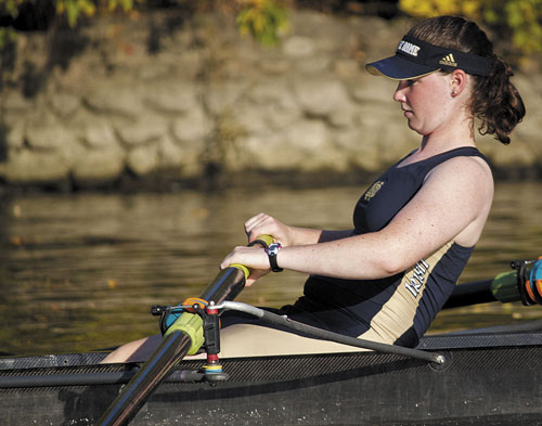 ROWING AWAY: Winthrop native Kelsey Murphy is part of a Notre Dame team that has won the last eight Big East rowing titles.