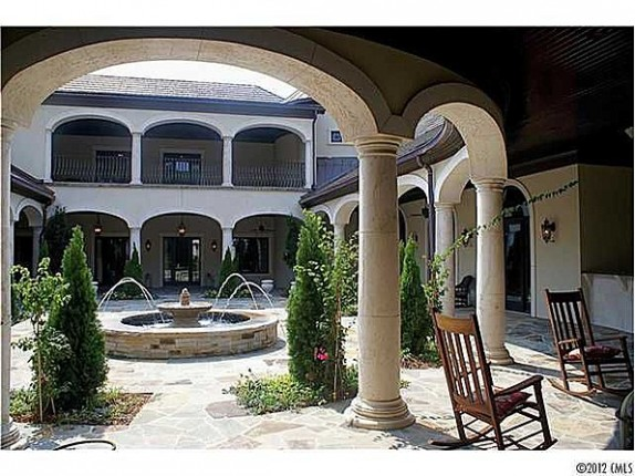 """The courtyard of the home likely to be featured on ABC's """"The Bachelorette."""""""