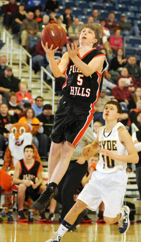 PITCHING IN: Forest Hills freshman forward Ryan Petrin is averaging 6.3 point per game for the Tigers, who will play in the Class D state champions Saturday at the Augusta Civic Center.