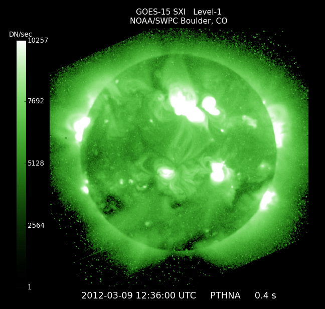 Latest solar X-ray Image from NOAA.