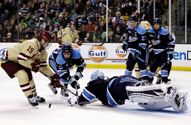 THEY'RE BACK: Maine might have lost 4-1 to Boston College in the Hockey East tournament final Saturday night in Boston, but on Sunday, the Black Bears returned to the NCAA tournament for the first time since 2007.