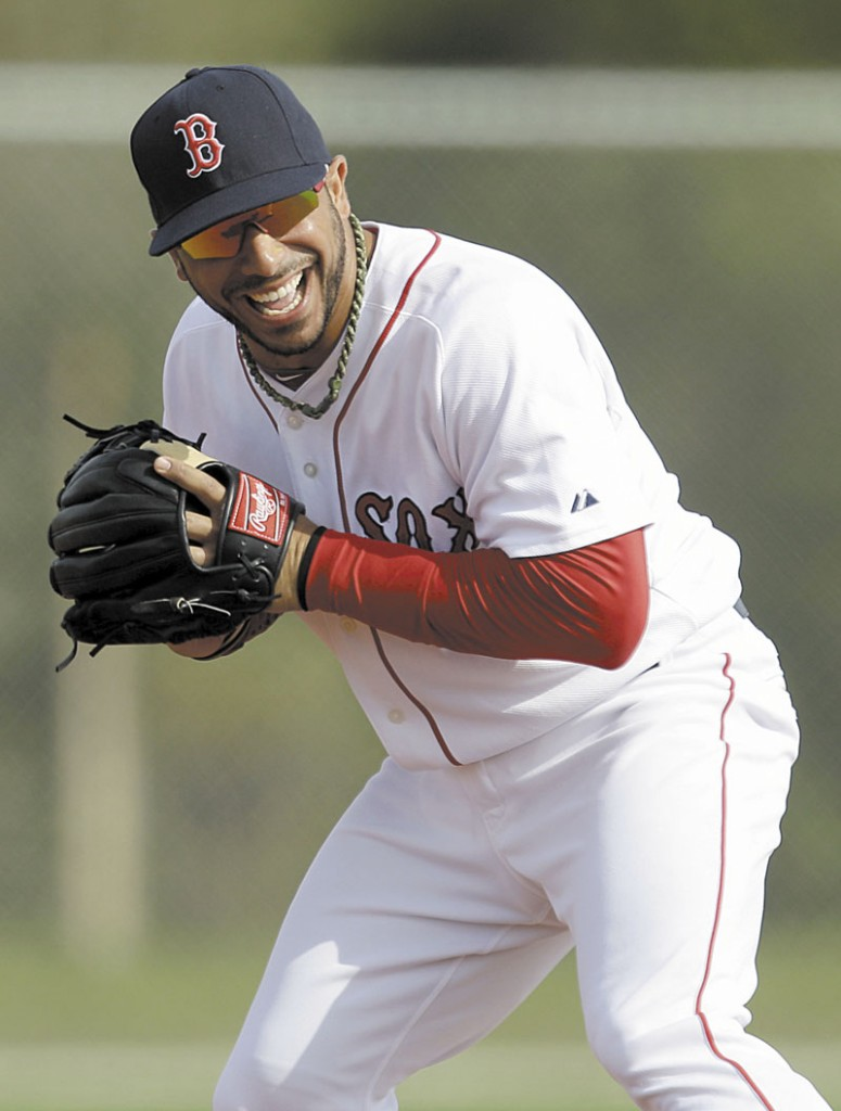 MAKING A BID: Mike Aviles has started 14 games for the Red Sox this spring and his batting .333. He appears to have the upperhand in the competition to be the starting shortstop over Jose Iglesias, who is batting just .147.