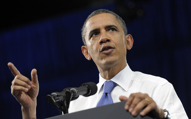 In a published interview, President Barack Obama said he's not bluffing about attacking Iran if they continue to build a nuclear weapon. But he urged not Israel not to make a premature strike that could make Iran the victim in the eyes of certain countries. (AP Photo / Susan Walsh)
