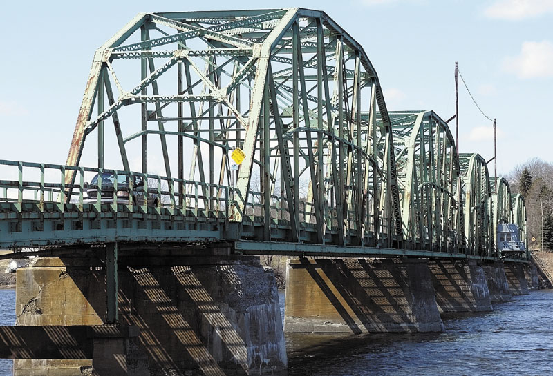 The Richmond-Dresden Bridge over the Kennebec River, suffering from a variety of problems is slated to be replaced.