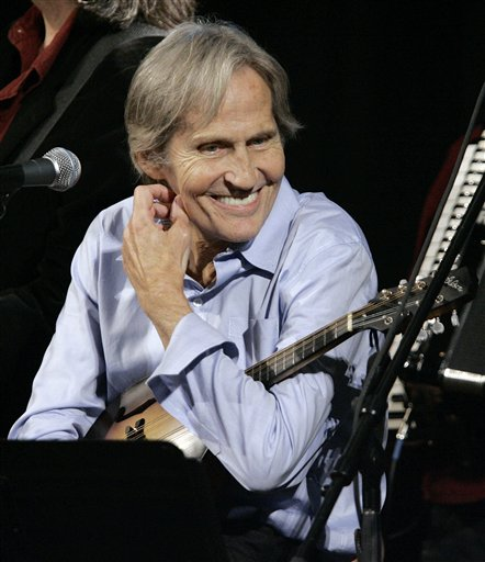 "Levon Helm appears on the new ""Imus in the Morning"" program at New York in this 2007 photo. After a private funeral Friday, Helm will be buried in Woodstock Cemetery next to Rick Danko, The Band's singer and bassist who died in 1999."