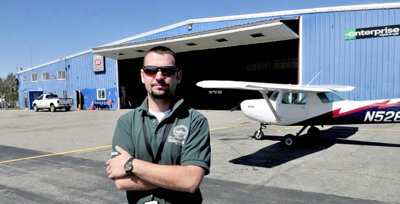 NEW LEADERSHIP: Robert LaFleur Municipal Airport Manager Randy Marshall Jr. at the Waterville airport last week.