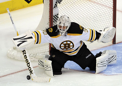 LEADING THE WAY: Boston goalie Tim Thomas was 35-19 this season with a .920 save percentage and a 2.36 goals against average.