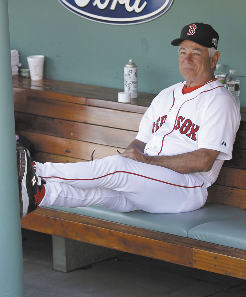 STILL SMILING: Red Sox manager Bobby Valentine has already made an himself heard in Boston, most recently calling out Kevin Youkilis.