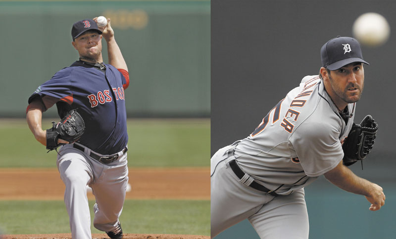 BIG-TIME MATCHUP: Boston Red Sox pitcher Jon Lester and Detroit Tigers ace Justin Verlander will face off in the season opener for both teams today at Comerica Park in Detroit. Verlander is the reigning Cy Young and MVP.