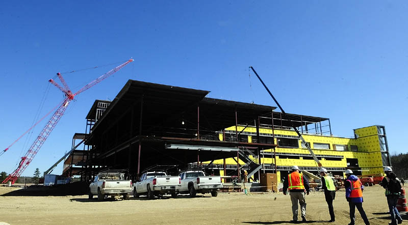 The new MaineGeneral regional hospital continues to take shape in North Augusta.