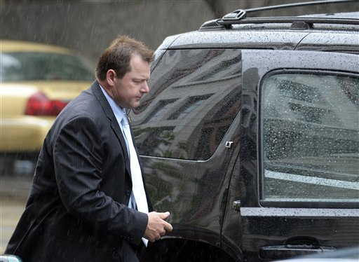 Former Major League Baseball pitcher Roger Clemens arrives at federal court in Washington on Monday.