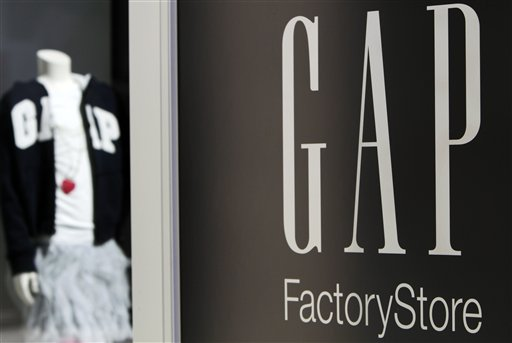 A Gap storefront in Freeport, Maine. Gap Inc. reported today that April revenue at stores open at least a year fell 2 percent, a bigger decline than analysts expected.