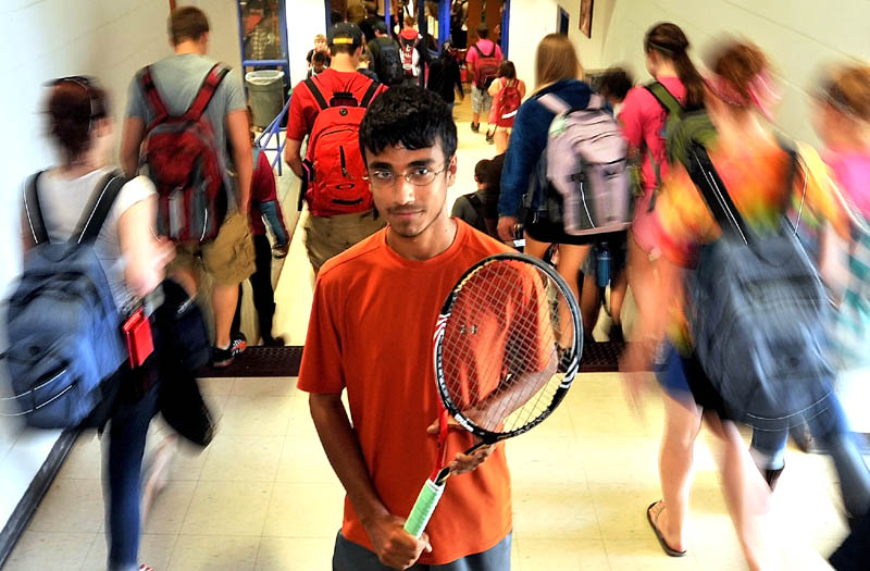 BIG MATCH: Messalonskee High School tenis player Jai Aslam will face Maranacook's Jason Laporte in the Round of 48 this morning.