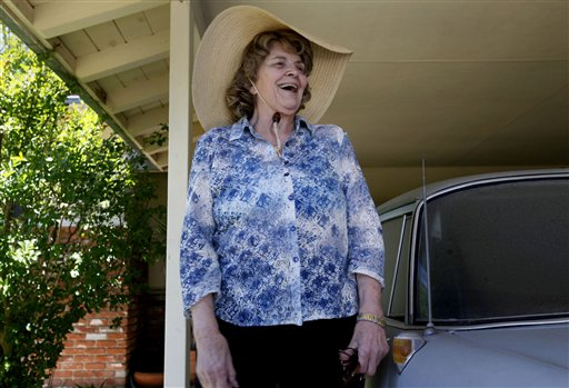Sharlotte Hydorn speaks to news media in El Cajon, Calif., in this May 2011 photo.