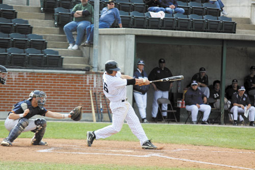 POWER HITTER: Erskine Academy graduate Nick Grady bats fourth and plays third base for the University of Southern Maine baseball team. Grady has five home runs and 32 RBIs this season.