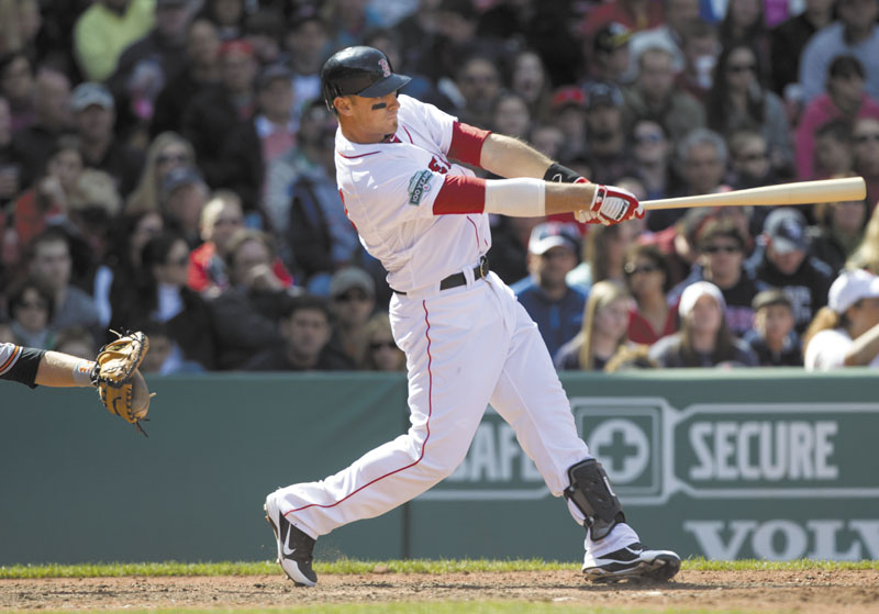 WHAT A START: Before Tuesday's game in Kansas City, Boston Red Sox third baseman Will Middlebrooks had three home runs and nine RBIs in four games. Middlebrooks started last season with the Portland Sea Dogs.