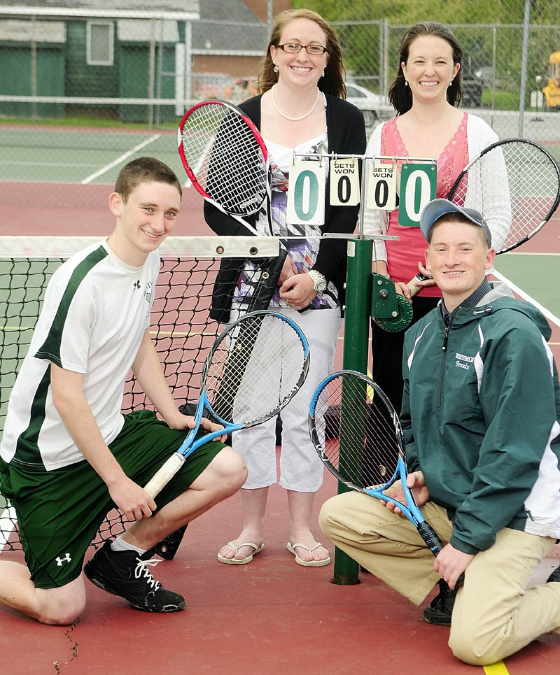 The Miles children have been playing and / or coaching tennis for the Winthrop Ramblers for the 12 years. They are from left Dan, Kelly, Allison and Jeff.