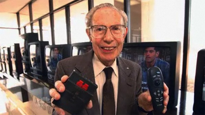 Eugene Polley, the inventor of the TV remote control.