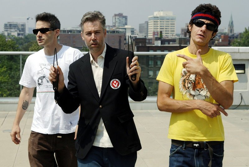 Adam Yauch, (MCA), center, with, Beastie Boys members Adam Horovitz (Adrock), left, and Mike Diamond (Mike D) during an interview in Toronto in 2006.