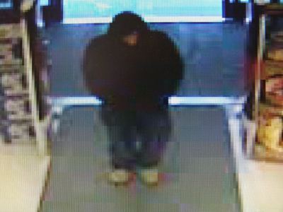 A video surveillance a photo released by police shows the man who robbed an Augusta Rite Aid pharmacy Friday night.