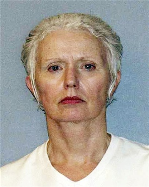 This undated file photo provided by the U.S. Marshals Service shows Catherine Greig, the longtime girlfriend of Whitey Bulger, captured with Bulger June 22, 2011, in Santa Monica, Calif. Greig was by Bulger's side for more than three decades, first as a secret girlfriend he kept on the side while he lived with another woman, then as the faithful woman who left behind her life in Massachusetts so she could go on the run with him. (AP Photo/U.S. Marshals Service, File) Catherine Greig