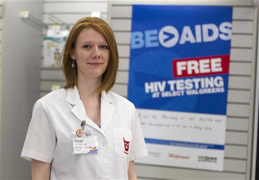 Pharmacy manager Sarah Freedman stands in her Walgreen's store in Washington, D.C., one of the chain's stores in 20 cities taking part in the free HIV testing program.