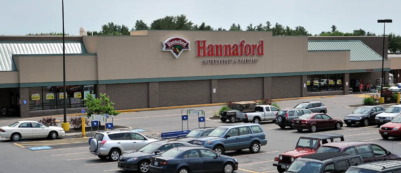 SYSTEM DOWN: Hannaford Supermarket and Pharmacy on Kennedy Memorial Drive in Waterville was one of 141 stores in the northeast suffering a computer glitch that would not allow any credit or debit transactions.
