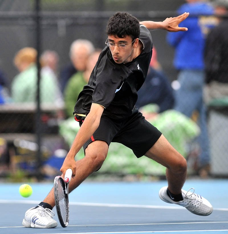 Morning Sentinel Boys Tennis Player of the Year Jai Aslam