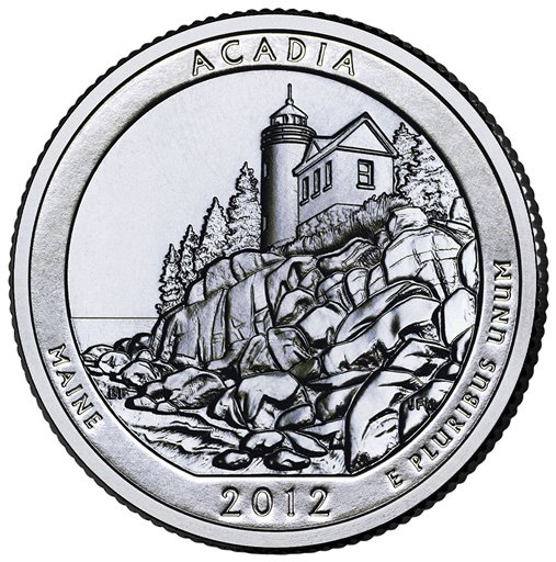 The Maine quarter being issued today shows Bass Harbor Lighthouse. The coin is one of five new quarters being released this year.