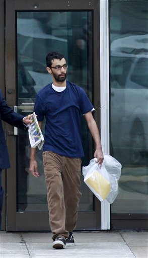 Dharun Ravi, 20, walks out of Middlesex County jail in North Brunswick, N.J., today, after serving 20 days of a 30-day sentence.