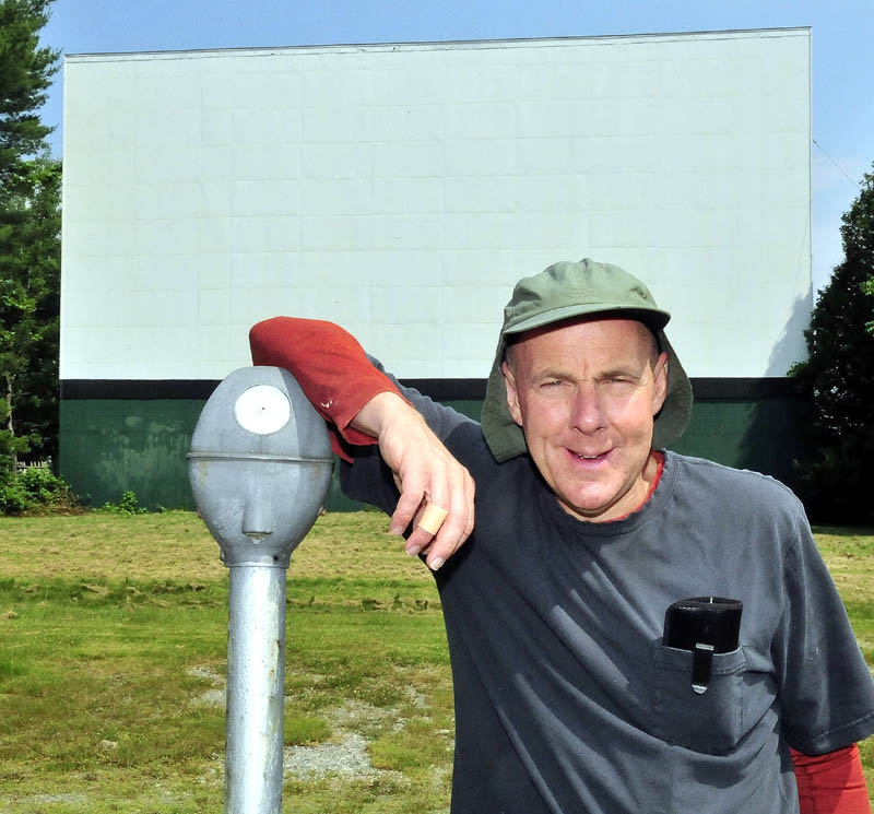 BIG SCREEN: Donald Brown Jr. is the new owner of the Skowhegan Drive-In. It will open on July 20.