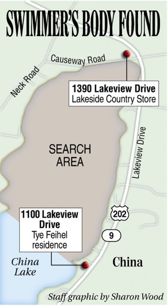 China Lake Maine Map.Missing Man S Body Found In China Lake Centralmaine Com