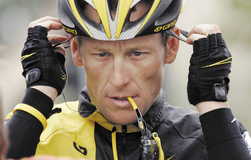"""FILE - In this Feb. 22, 2009 file photo, Lance Armstrong prepares for the final stage of the Tour of California cycling race in Rancho Bernardo, Calif. The U.S. Anti-Doping Agency is bringing doping charges against the seven-time Tour de France winner, questioning how he achieved those famous cycling victories. Armstrong, who retired from cycling last year, could face a lifetime ban from the sport if he is found to have used performance-enhancing drugs. He maintained his innocence, saying: """"I have never doped."""" (AP Photo/Marcio Jose Sanchez, File)"""