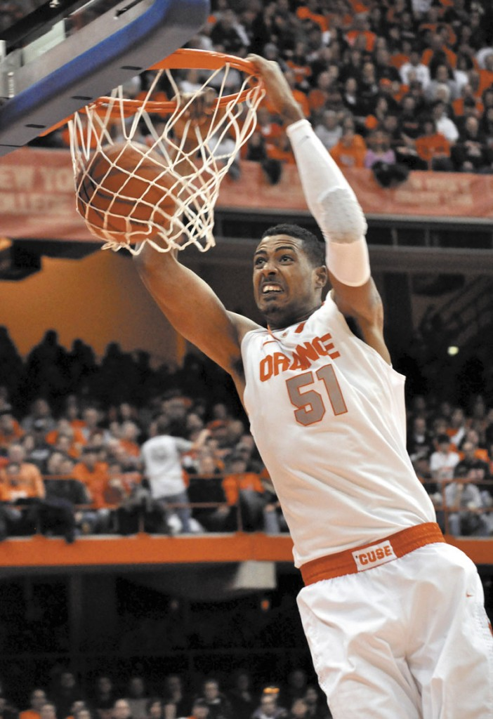 WELCOME TO BOSTON: The Boston Celtics selected Fab Melo in the first-round of the NBA Draft on Thursday evening. Melo left Syracuse after he was declared ineligible for the NCAA tournament.
