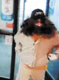 A video surveillance photo shows a man who robbed the CVS pharmacy on Capitol Street in Augusta Monday night.