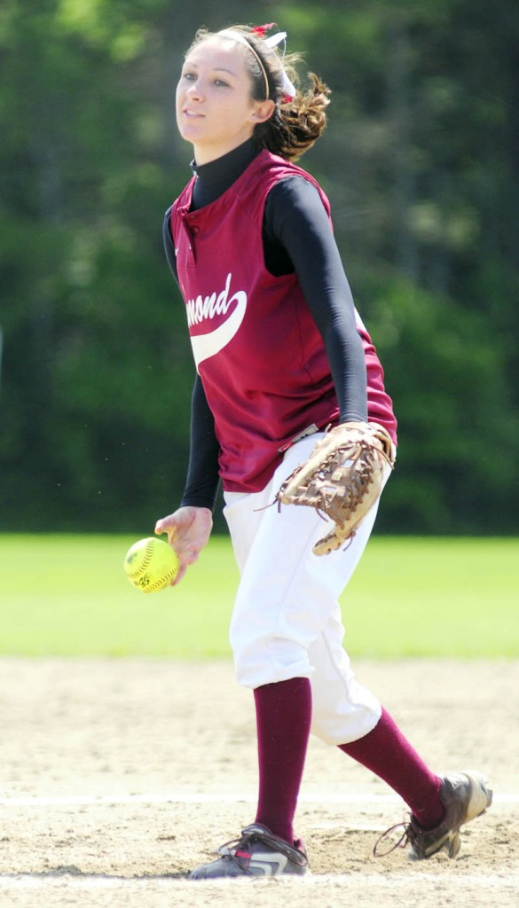 Richmond pitcher Leandra Martin delivers a pitch during the Bobcats' 7-1 win in the Western D regional semifinals Friday in Richmond.