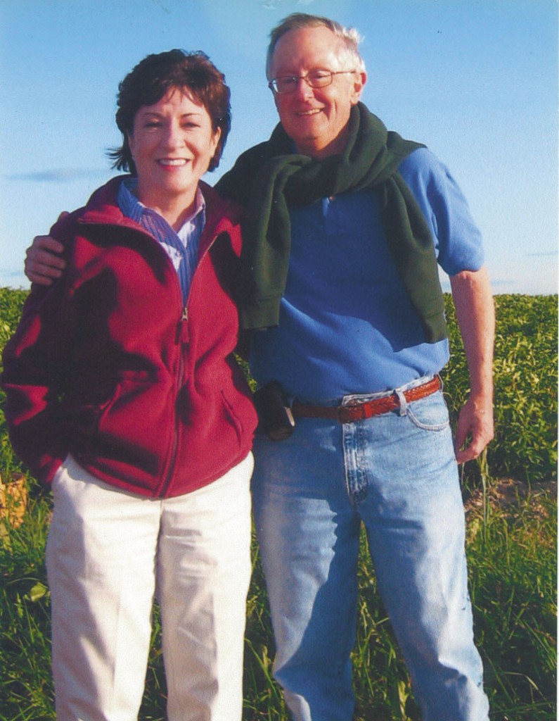 U.S. Sen. Susan Collins poses with her fiance, Thomas Daffron.