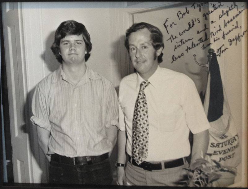 Tom Daffron, right, with Bob Tyrer in then Rep. Bill Cohen's Washington office, circa 1975.