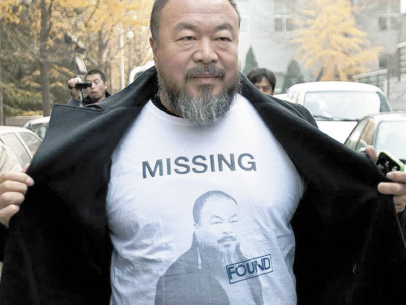 """Ai Weiwei: Never Sorry"" is a documentary about the Chinese artist and activist Ai Weiwei. The movie is showing at 12:30 p.m. today at Railroad Square Cinema in Waterville."