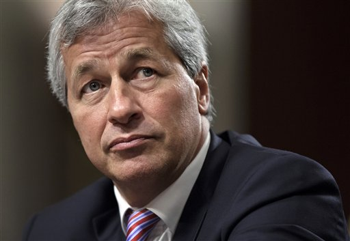JPMorgan Chase CEO Jamie Dimon, head of the largest bank in the United States, testifies before the Senate Banking Committee on Capitol Hill in this June 13, 2012, photo.
