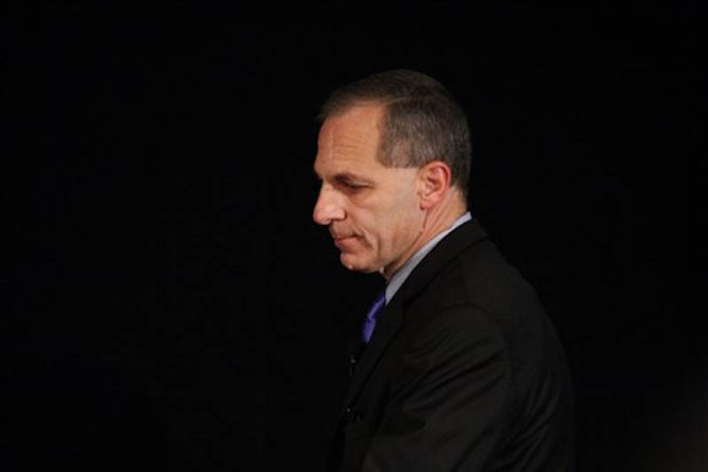 Former FBI director Louis Freeh arrives for a news conference Thursday, July 12, 2012, in Philadelphia. After an eight-month inquiry, Freeh's firm produced a 267-page report that concluded that Hall of Fame coach Joe Paterno and other top Penn State officials hushed up child sex abuse allegation against Jerry Sandusky more than a decade ago for fear of bad publicity, allowing Sandusky to prey on other youngsters. (AP Photo/Brynn Anderson)