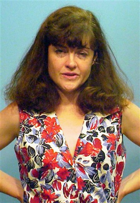This booking photo provided by the Chicago Police Department shows Kathleen Kearney, 44, of Canton, Mass., on Monday, July 16, 2012. Kearney appeared in a Cook County courtroom, Tuesday, July 17, in Chicago, where she was charged with two felony counts of stalking Chicago Cubs President Theo Epstein after she was arrested on Monday trying to deliver a birthday present to his young son at his Chicago home. Prosecutors say Kearney had tried to contact Epstein several times when he was the general manager of the Boston Red Sox. (AP Photo/Chicago Police Department)