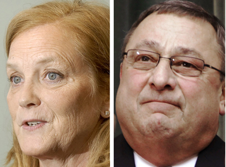 U.S. Rep. Chellie Pingree and Gov. Paul LePage
