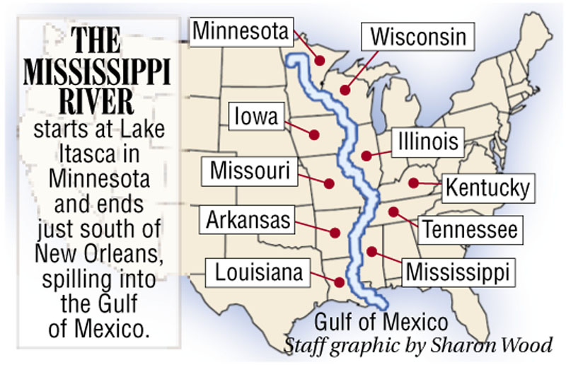 mississippi river map for kids Oakland Teen Paddles Down 2 350 Miles Of The Mississippi River mississippi river map for kids
