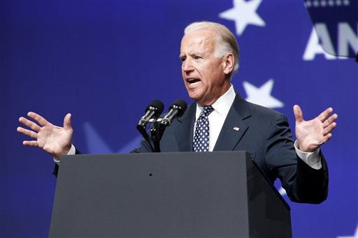Vice President Joe Biden speaks at the National Council of La Raza convention at the Mandalay Bay Convention Center in Las Vegas on Tuesday.