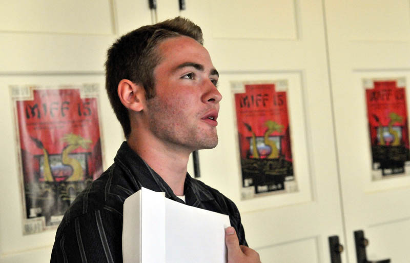 """With his film """"Freedom of the Press,"""" Jacob Caron of Brewer High School won the grand prize on Saturday at the Maine Student Film & Video Festival. The festival, a production of the Maine Alliance of Media Arts, was part of the 15th annual Maine International Film Festival, which ends today."""