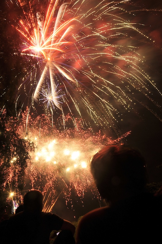 Winslow's Fourth of July celebration fills the sky above Fort Halifax Park Wednesday night.