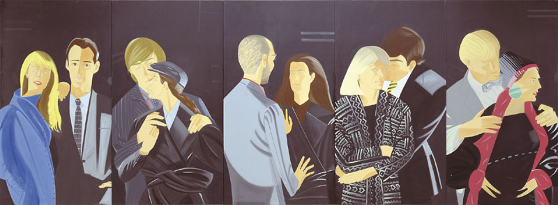 """Alex Katz's """"Pas De Deux,"""" a gift of Paul J. Schupf, LL.D. '06, in honor of Hugh J. Gourley III, is displayed at Colby College."""