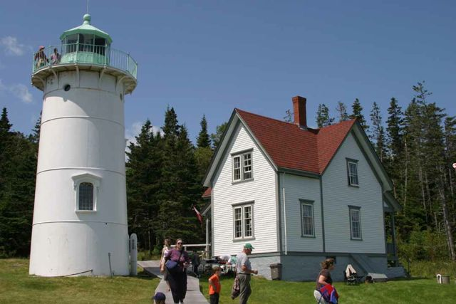 The Little River Lighthouse in Cutler.